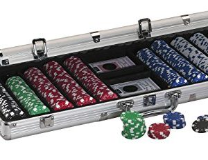 Fat Cat Texas Hold 'em Poker Chip Set, 500 Chips