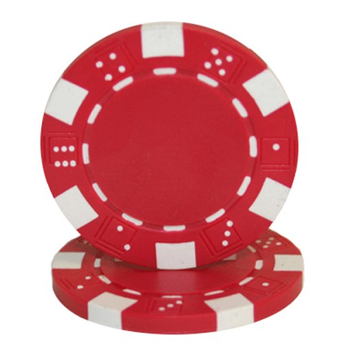 Brybelly 50 Clay Composite Striped Dice 11.5 Gram Poker Chips