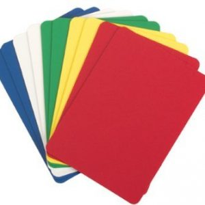 Set of 5 Plastic Poker Cut Cards (Assorted Colors)