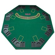 """48"""" Green Octagon Folding Poker and Blackjack Table Top with Carrying Case by Brybelly"""